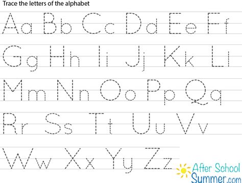 Printable Traceable Alphabet Letters  Printable Pages