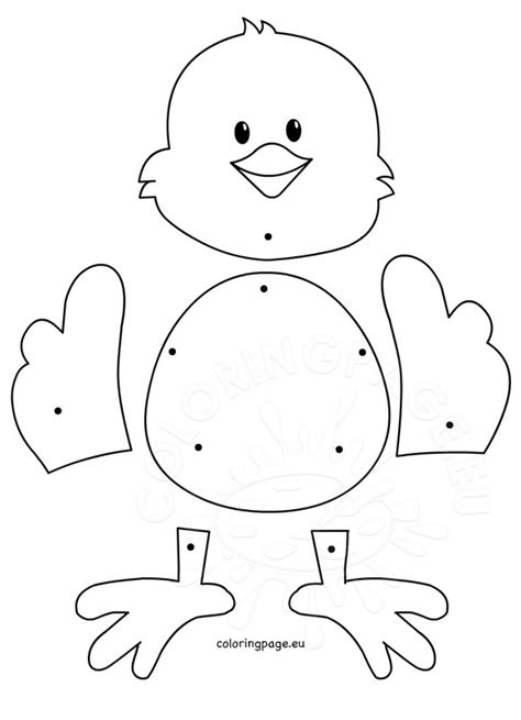 Easter Chicken Template Pictures To Pin On Pinterest