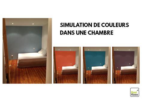 quel mur peindre en couleur dans une chambre kazadécor simulateur de couleurs de peinture en ligne