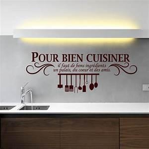 Stickers Muraux Cuisine : sticker pour bien cuisiner stickers cuisine textes et ~ Premium-room.com Idées de Décoration