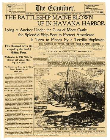 uss maine sinking yellow journalism hearst corp at 125 traces its sf roots sfgate