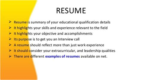 Resume Writing Powerpoint Slides by Resume Ppt For Free