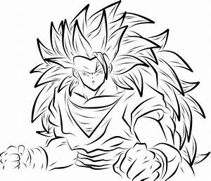 Goku Super Saiyan 3 Drawing At Getdrawingscom Free For