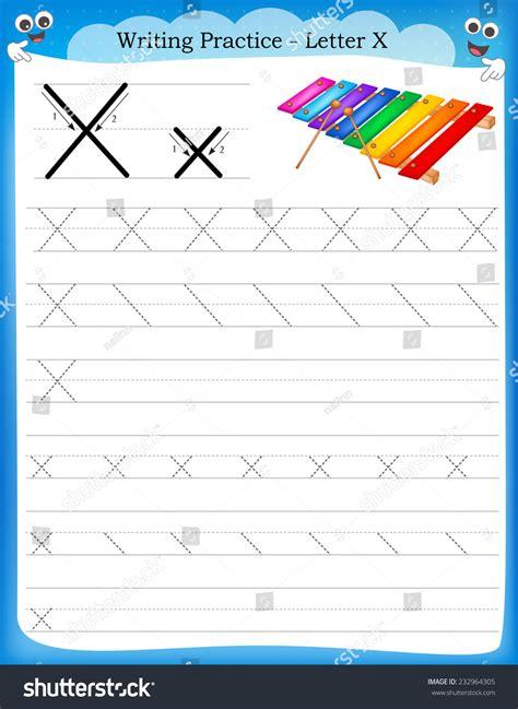 writing practice letter  printable worksheet stock vector