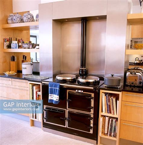 gap interiors modern kitchen with aga image no 0064316 photo by johnny bouchier