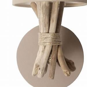 Applique Murale Bois Flotté : applique murale taupe lampe en bois flott applique bois flott ~ Teatrodelosmanantiales.com Idées de Décoration