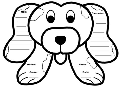 dog ears coloring page food ideas