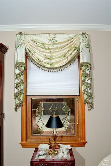 Swag Valances Window Treatments by Single Swag With Cascades Window Treatment Swags By