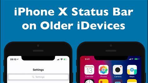 iphone status bar get iphone x status bar on older idevices phim22 com Iphon