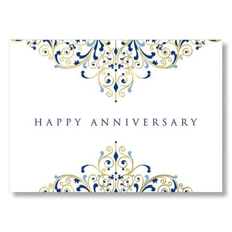 anniversary flourish gold foil work anniversary card