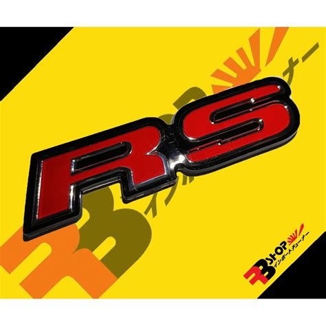 โลโก้ RS ติดท้ายรถ Honda สินค้าถ่ายจากสินค้าจริง สะท้อนแสง ...