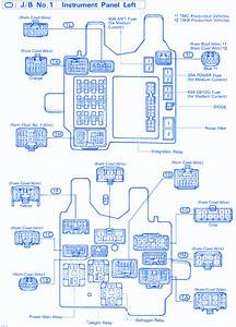 Toyota Camry Le 1998 Instrument Cluster Fuse Box  Block Circuit Breaker Diagram