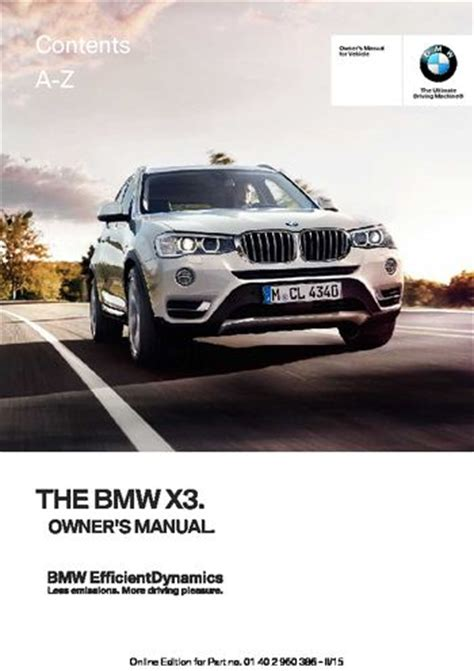 download car manuals pdf free 2010 bmw x3 on board diagnostic system download 2015 bmw x3 xdrive28i owner s manual pdf 257 pages