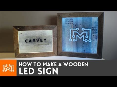led sign with reclaimed wood how to