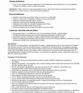 a starters guide to design clinical research coordinator With clinical research resume