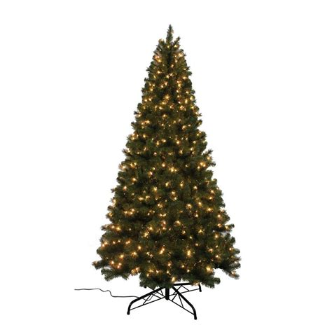 home accents holiday 9 ft noble fir quick set artificial christmas tree with 800 clear lights