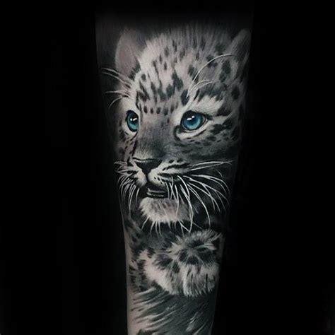 snow leopard tattoo designs  men animal ink ideas
