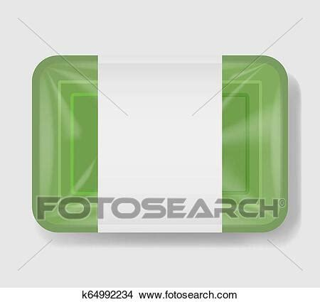 Free for personal and commercial use. Plastic tray container with cellophane cover. Mockup ...