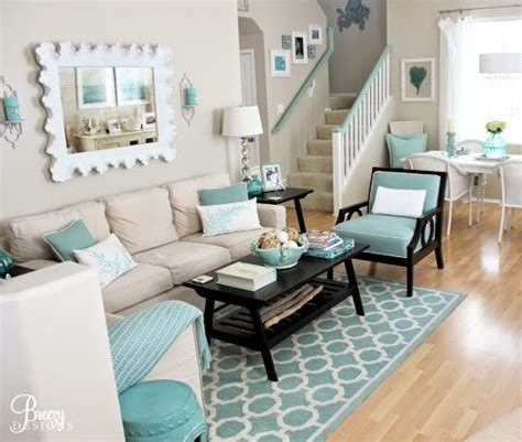 aqua living room easy breezy living in an aqua blue cottage bliss