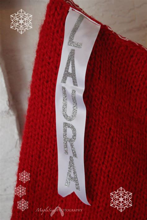 mapleseeds home pattern giant knitted christmas stocking