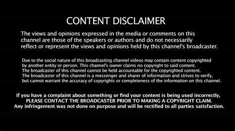 fair  disclaimer youtube