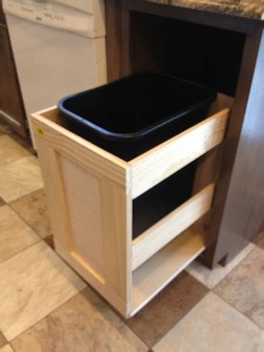 pull out garbage cabinet ana white kitchen trash pull out cabinet diy projects
