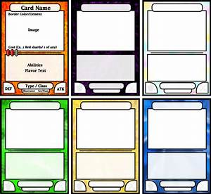 card game template by kazaire on deviantart With card game design template