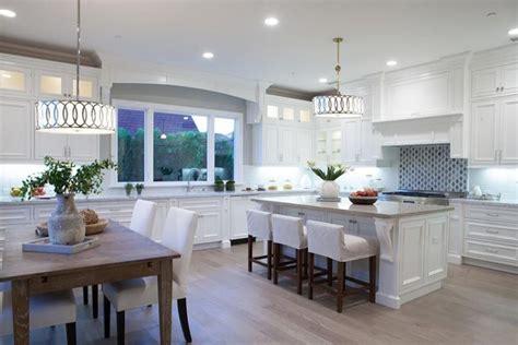 kitchen island bar stools 30 beautiful white kitchens design ideas designing idea