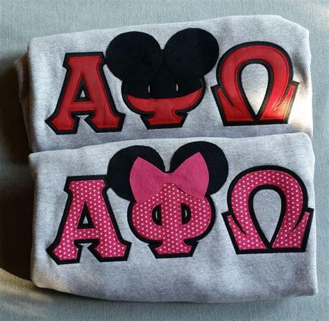 alpha phi omega letters disney your letters apolove biglittlegift cutest 9117