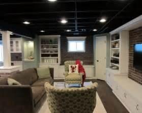 nice unfinished basement lighting ideas 2 black