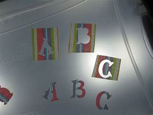 translucent letters made by placing contact paper on both With contact paper letters