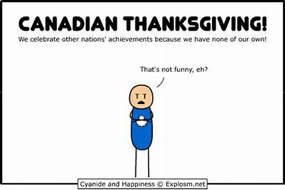 Thanksgiving Canadian Funny Canada Happiness Comics Cyanide