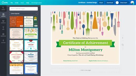 membuat sertifikat    contoh desain canva