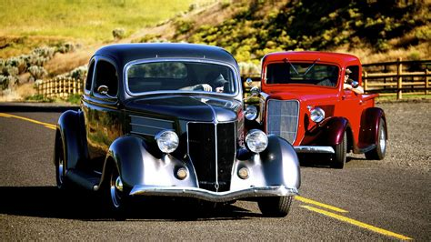 Cars Hot Rod Classic Widescreen Wallpaper