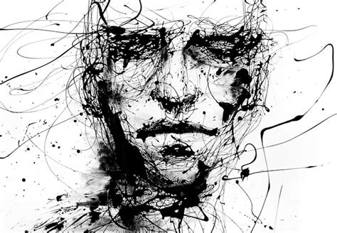 Gothic Horror Sketch Of A Mans Face (picture