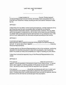 best photos of printable last will and testament format With joint will and testament template