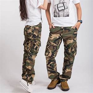 Hottest women army fatigue baggy pants cargo pants sports ...