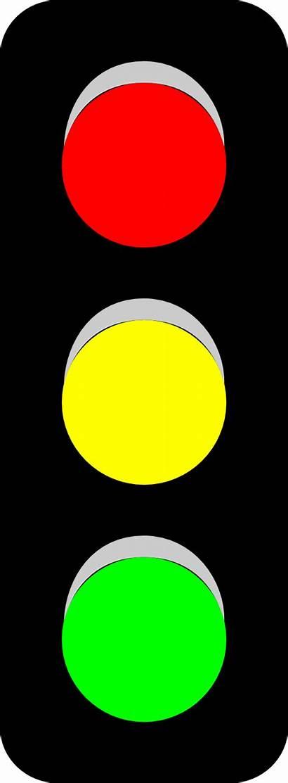 Clipart Traffic Cartoon Clip Yellow Lights Stop