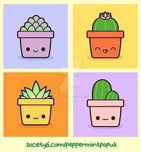 Kawaii succulents and cacti   Drawings   Pinterest ...