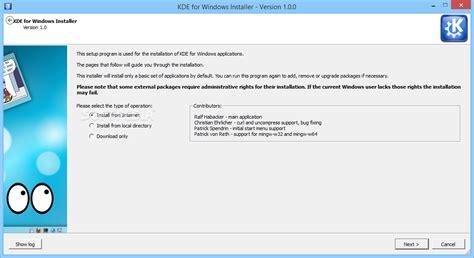 Download Kde For Windows Installer 1.1.0