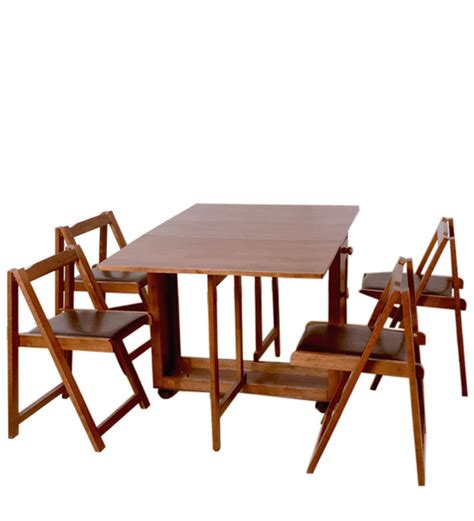 compact folding cing table buy compact four seater folding dining set by hometown