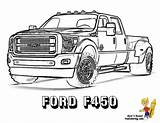 Coloring Truck Ford Pages Boys Trucks Sheets Dodge Dually Yescoloring Sheet Lifted Super Pickup Cool American Awesome Printable Colouring F450 sketch template