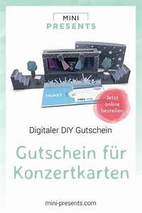 Diy Geschenke Für Den Freund : diy gutschein f r konzertkarten basteln du suchst geschenke f r m nner f r den freund f r ~ Frokenaadalensverden.com Haus und Dekorationen