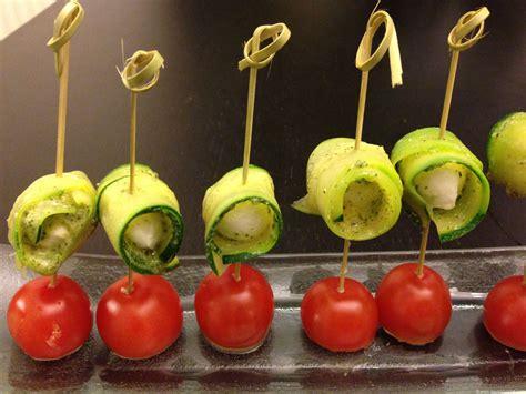 recette cuisine rapide et simple pic mozzarella pesto courgettes et tomates cerise