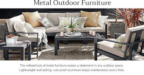 metal outdoor sectional metal outdoor sofa metal outdoor furniture williams sonoma