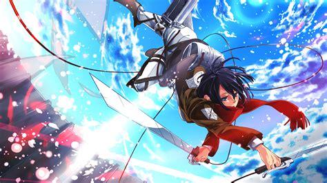 mikasa ackerman   hd attack  titan shingeki