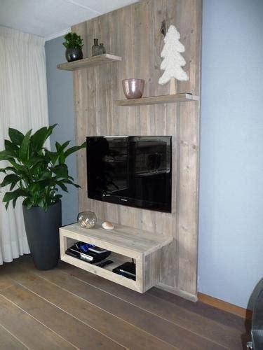 tv wand steigerhout het maken een steigerhouten wand tv meubel werkspot
