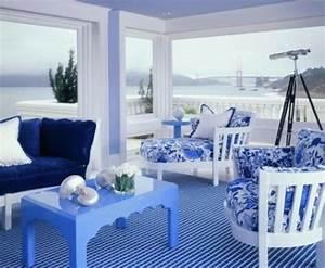 Meerblick Blau Weiss Pastell Tisch Idee Patio Outdoor