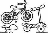 Coloring Pages Scooter Razor Template sketch template