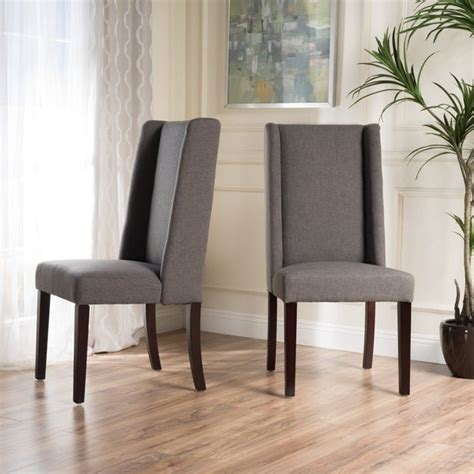 shop rory wing  fabric dining chair  dark grey set